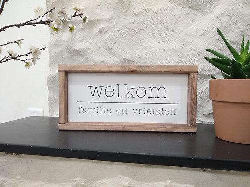 Dutch Welkom Wood Sign