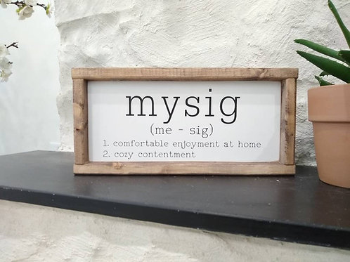 Mysig - definition and pronunciation