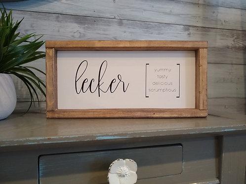 German Lecker Sign