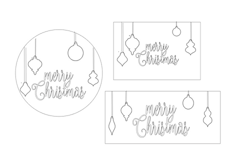 CHRISTMAS: Merry Christmas, Ornaments