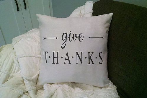 Pillow: Give Thanks