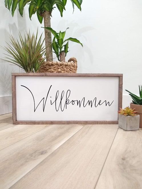 Willkommen - German Welcome Sign