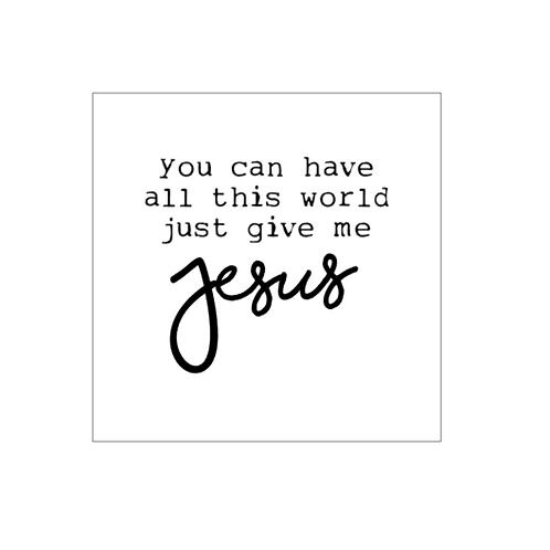 Bridal Shower: Give Me Jesus