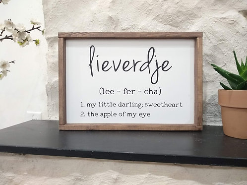 Lieverdje Sign