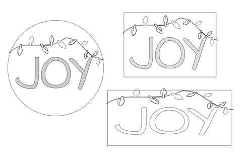 CHRISTMAS: JOY (String of Lights)