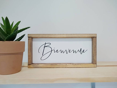 Bienvenue Sign - French Welcome Sign