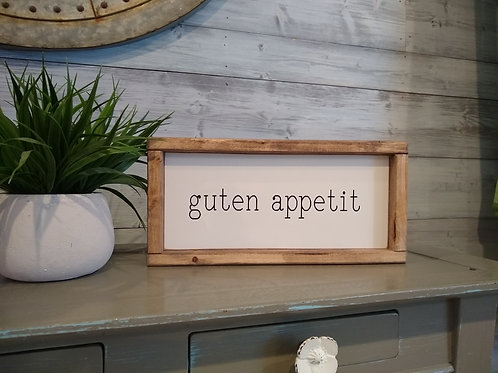 Guten Appetit Sign - German
