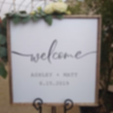 Wedding Rental Sign