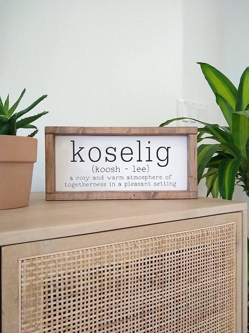 Koselig - definition and pronunciation