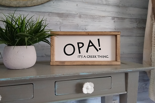 OPA! - Greek Sign