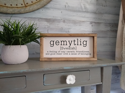 Gemytlig - definition