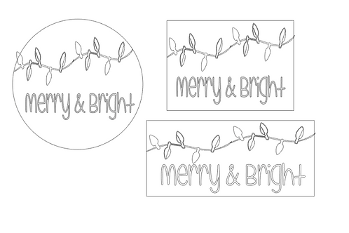 CHRISTMAS: Merry & Bright (String of Lights)