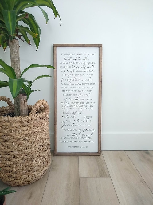Armor Of God - Wood Sign