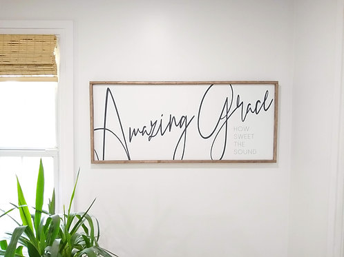 Amazing Grace - Large Wood Sign