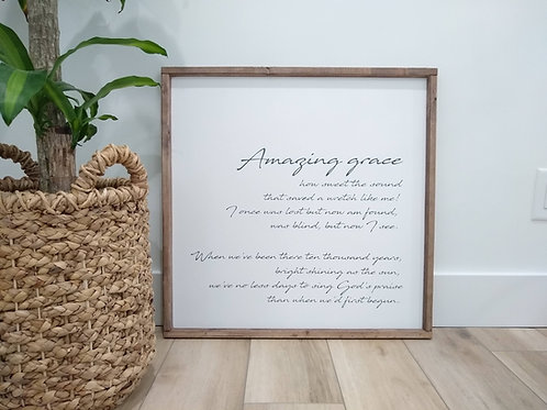 Amazing Grace - Verses 1 & 4