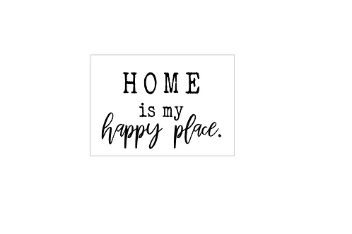 PINK : Home is my happy place.
