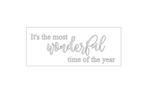 GOLD : It's the most wonderful time of the year (2 fonts)