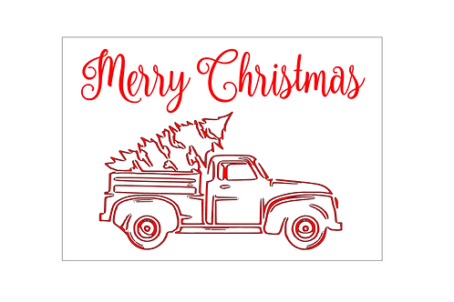 GOLD : Red Truck, Merry Christmas