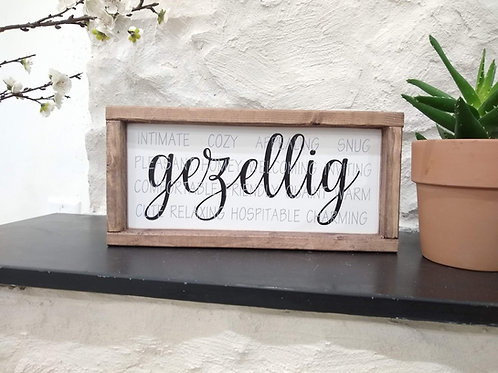 Gezellig Sign (with definition)