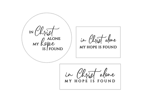 PINK : In Christ Alone (new)