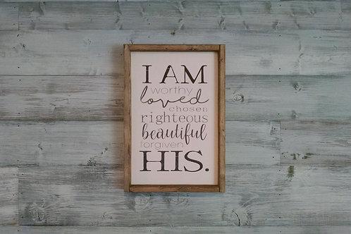 DIY KIT: I Am...His.
