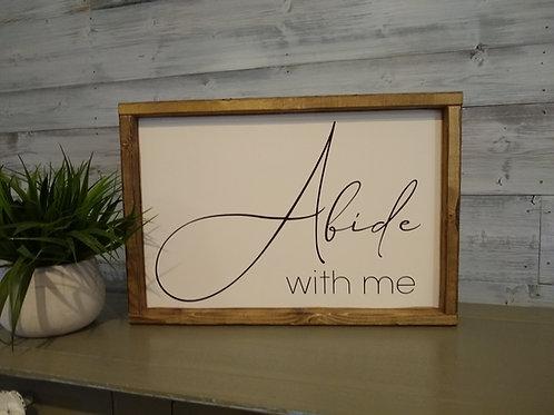 Framed Abide With Me - DIY Kit