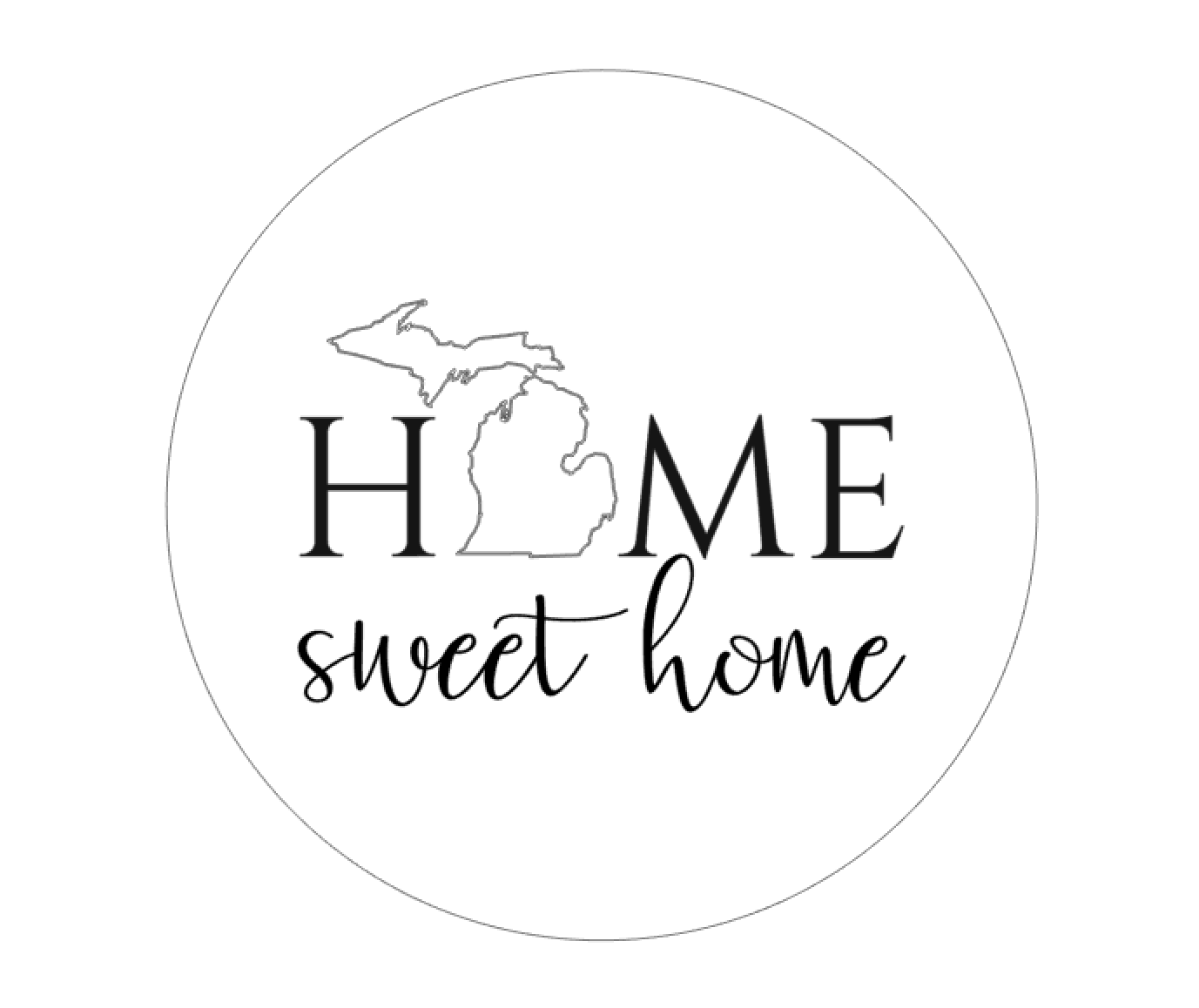 Home Sweet Home - Round - New