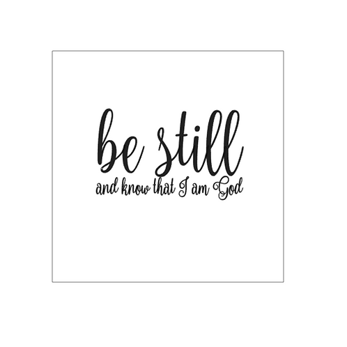 Bridal Shower: Be Still