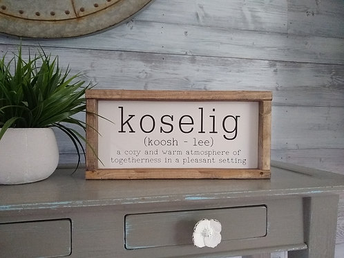 Koselig - definition and pronunciation
