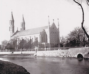 Church & River Kent before 1911.jpg