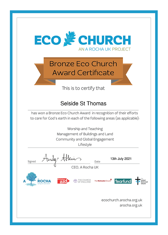 Selside St Thomas - Eco Church Award Certificate Bronze.png
