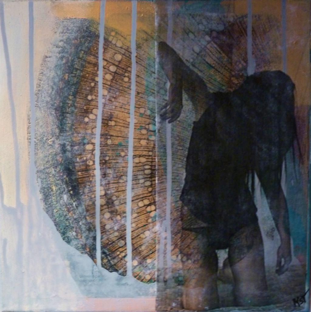 """"""" so tender 2"""",2016, 30x30,mixed media"""