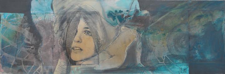 pulse of life, 40x120, 2013, acrylcollage