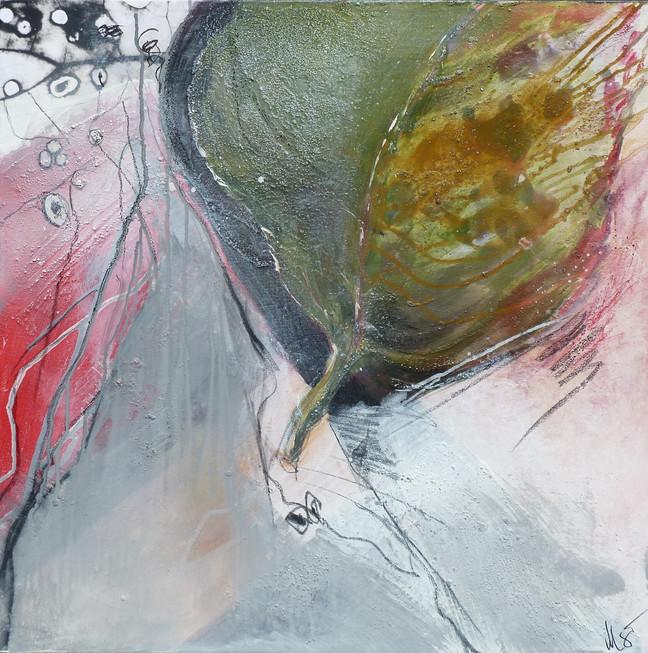 """"""" rose garden III, 70x70, 2014, acryl-mischtechnik"""