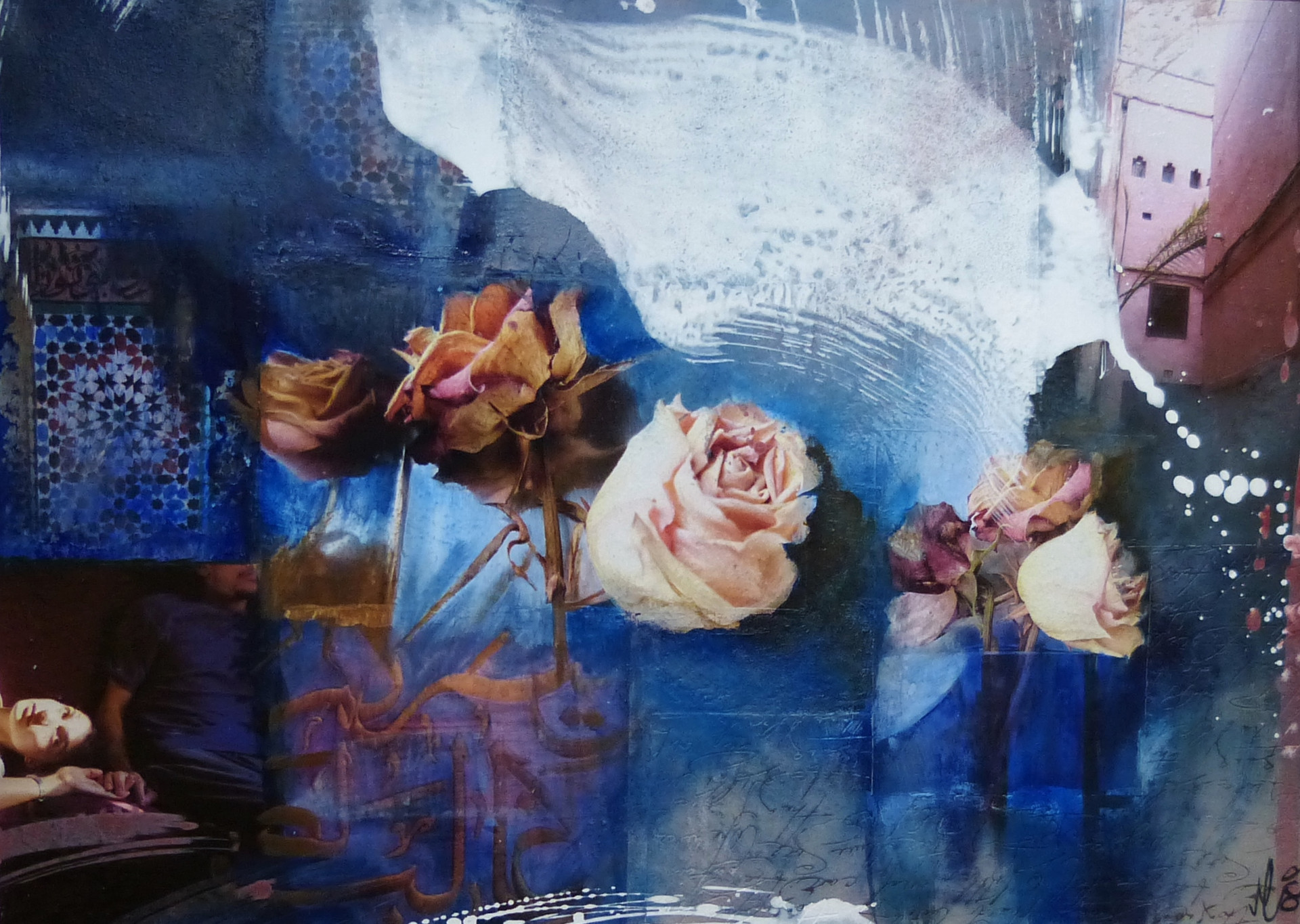 """marokko I"", 70x100,2014, fotocollage mit rahmen"