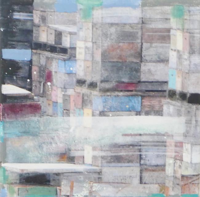 """"""" manuka 2"""", 2017, 30x30, mixed media auf leinwand"""
