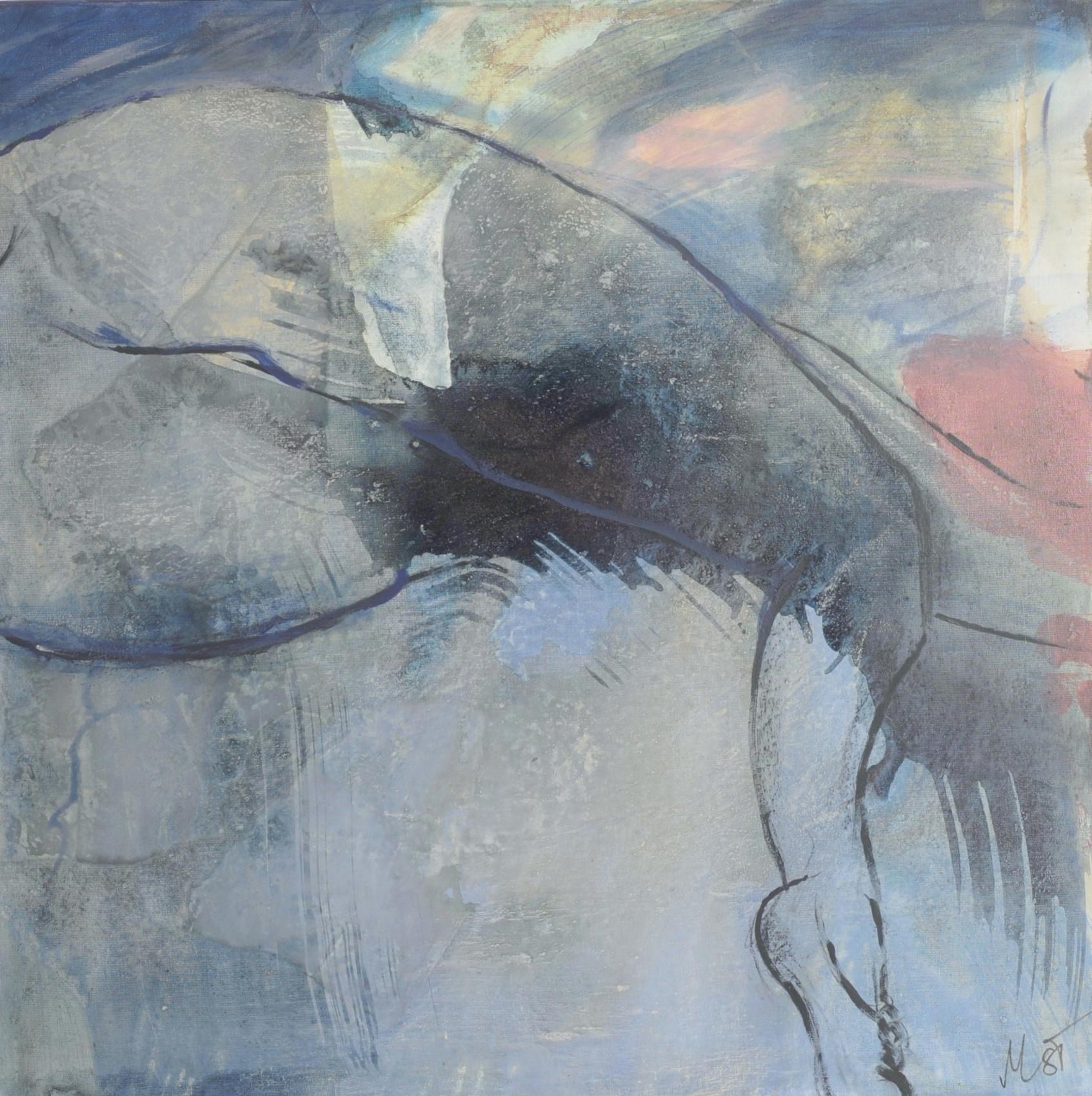 body and soul II, 80x80, 2013, acryl auf leinwand