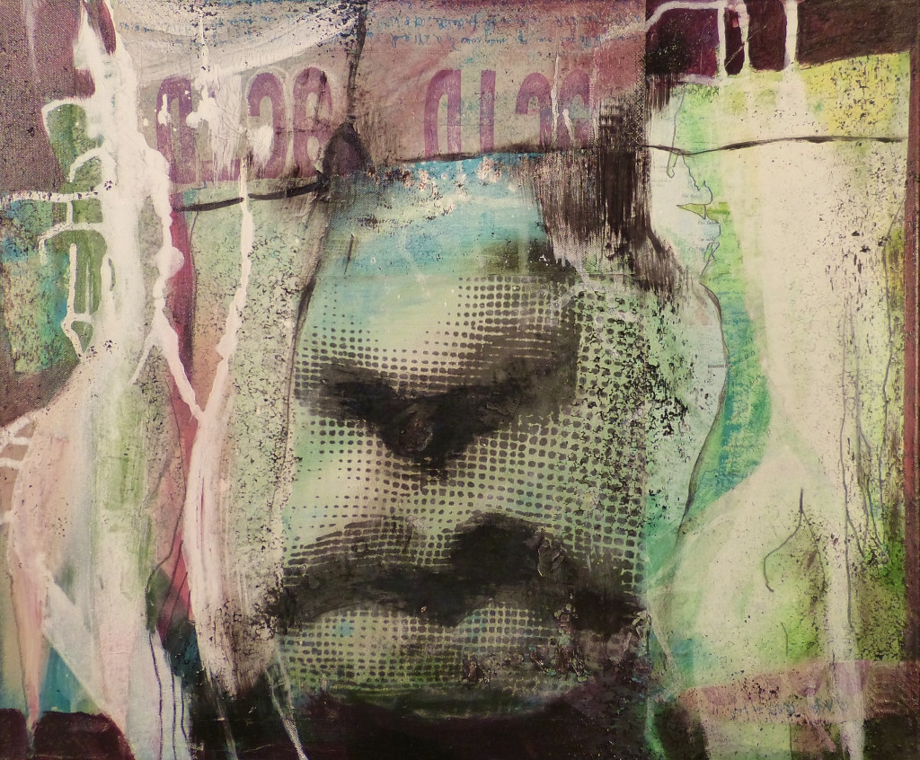""""""" common sense 2"""", 2016, 50x70, acrylcollage"""