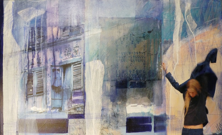 """leaving"",2016, 65x105, acrylcollage"