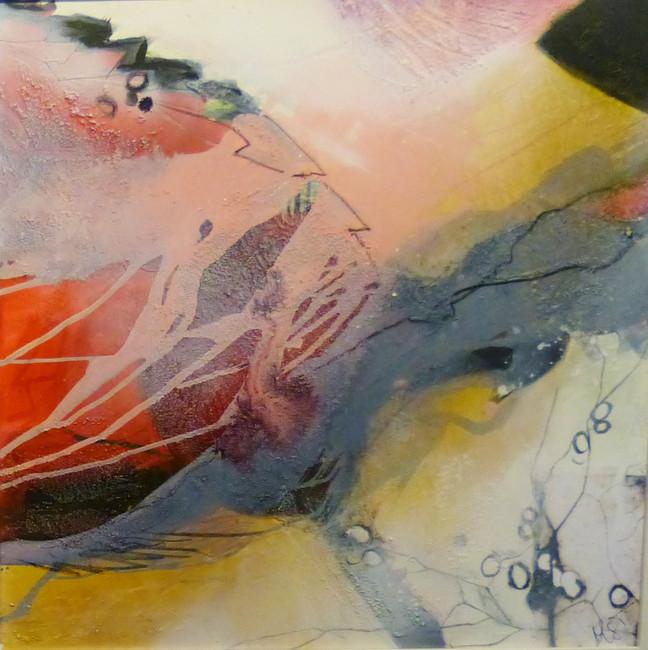 """rosegarden II"", 2014, 70x70, acryl-mischtechnik auf leinwand"