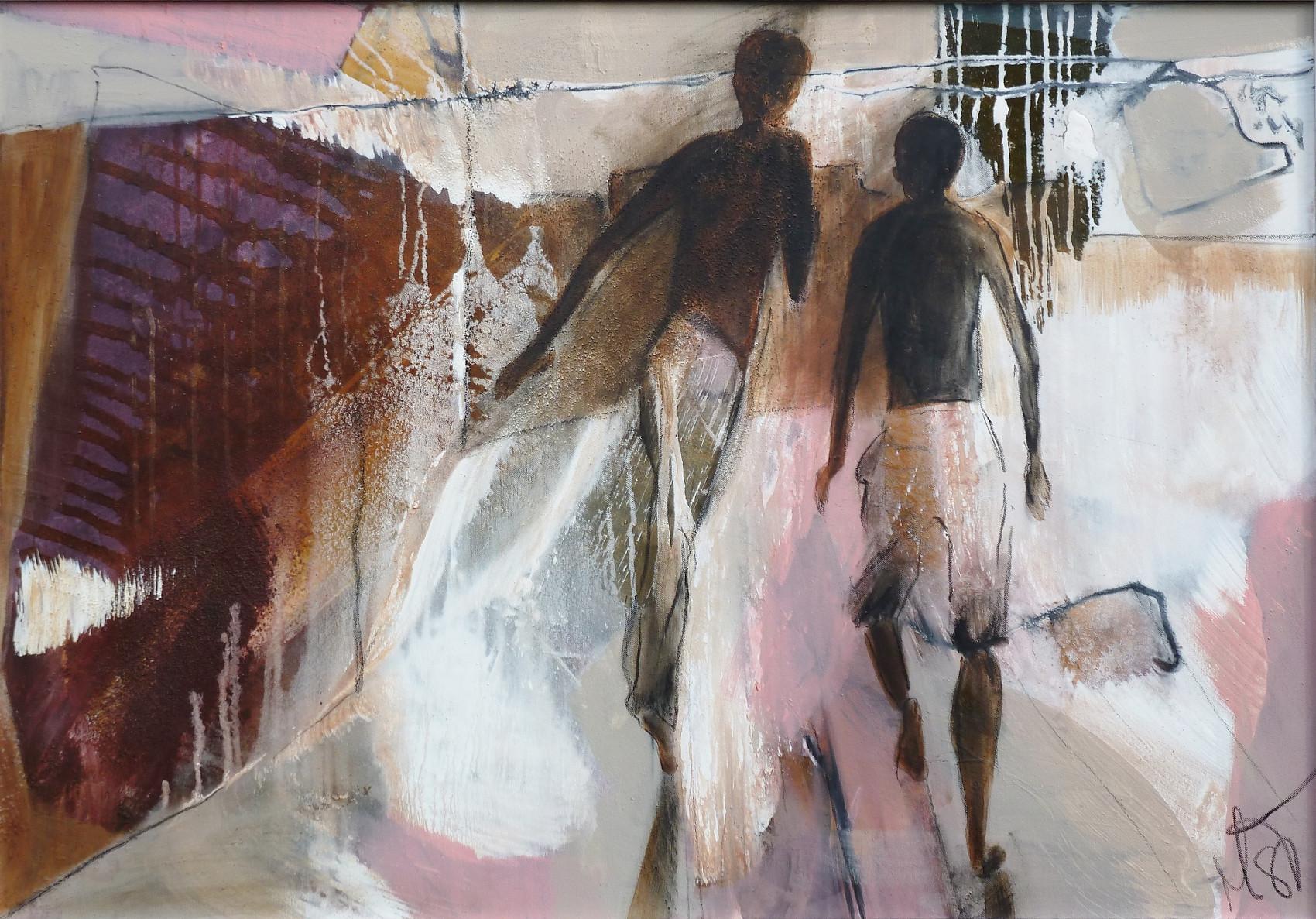 """ escape"",  70x100, 2014, acryl auf leinwand"