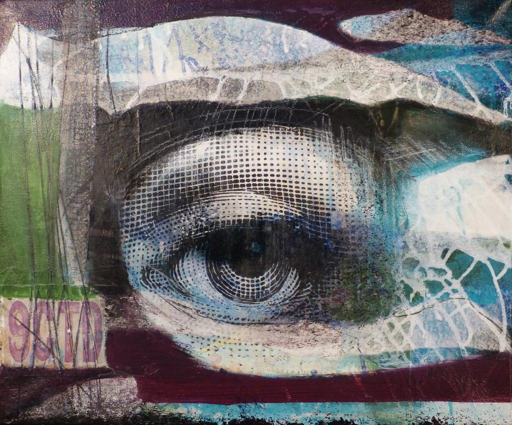 """"""" common sense 1"""", 2016,50x70, acrylcollage"""