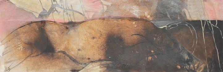 emotion, 40x120, 2013, acrylcollage auf leinwand