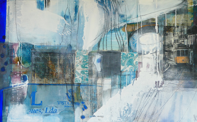 """"""" lisboa"""", 2017, 100x120, mixed media"""