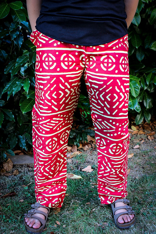 African Pants Bright Red