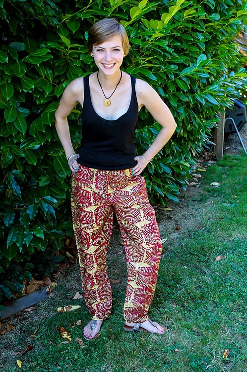 African Pants Red