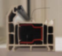 UPVC Window Frame Cross Seci