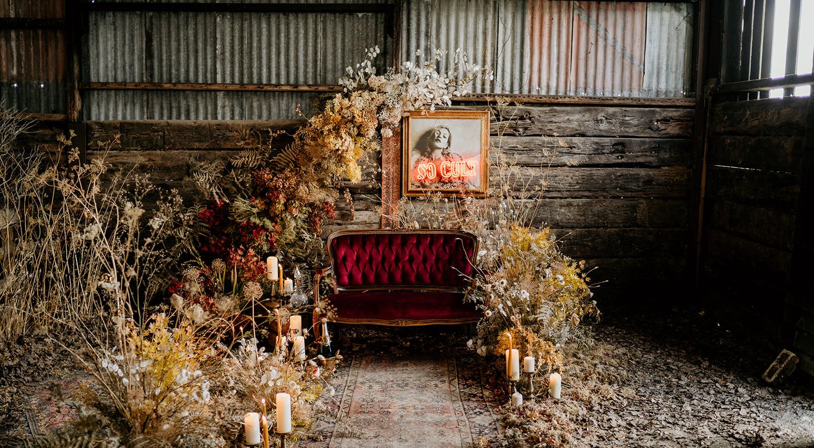 Eco Dried Flower Installation