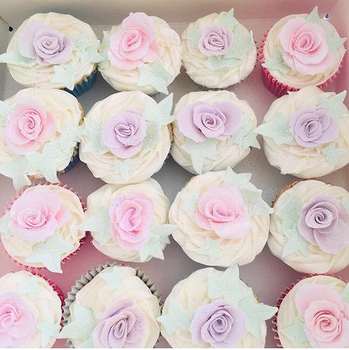 Pastel Rose Cupcakes-Gluten Free