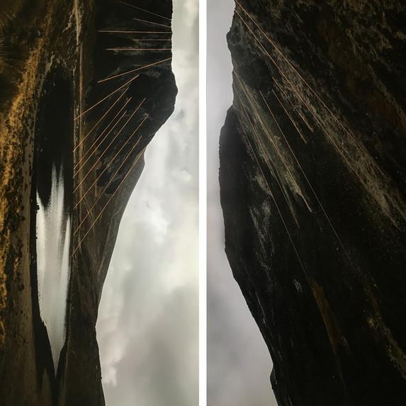 Volcán II, díptico (2018)